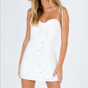 White Mini Dress - Princess Polly - Size US 0